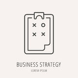 Vector Simple Logo Template Business Strategy. Logo or label business strategy. Line style logotype. Easy to use business strategy template. Vector abstract sign Royalty Free Stock Photography