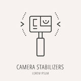 Vector Simple Logo Template Camera Stabilizers Royalty Free Stock Photo