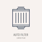 Vector Simple Logo Template Car Elements. Logo or label Car elements. Line style logotype. Easy to use business template. Vector abstract sign or emblem Royalty Free Stock Images