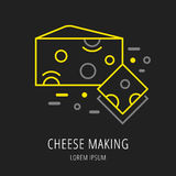 Vector Simple Logo Template Cheese Making Stock Photo
