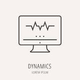 Vector Simple Logo Template Dynamics. Logo or label dynamics. Line style logotype. Easy to use dynamics template. Vector abstract sign or emblem Stock Photo