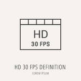 Vector Simple Logo Template HD 30 FPS Definition Stock Photography
