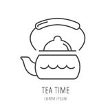 Vector Simple Logo Template Kettle Stock Photography