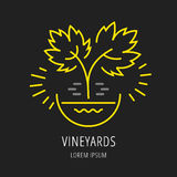 Vector Simple Logo Template Plant Grapes Royalty Free Stock Photography