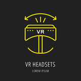 Vector Simple Logo Template VR Headsets Royalty Free Stock Photography