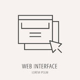 Vector Simple Logo Template Web Interface Stock Photos