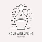 Vector Simple Logo Template Wine Making Royalty Free Stock Photos