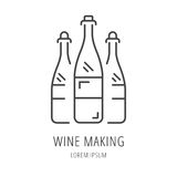 Vector Simple Logo Template Wine Making Royalty Free Stock Images