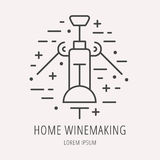 Vector Simple Logo Template Wine Making Royalty Free Stock Photo