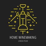 Vector Simple Logo Template Wine Making Stock Photo