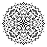 Vector simple mandala. Royalty Free Stock Image