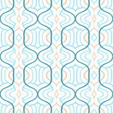 Vector simple Moroccan pattern in blue and white Stock Images