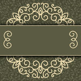 Vector simple ornamental decorative frame Royalty Free Stock Image