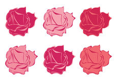 Vector simple roses Stock Images