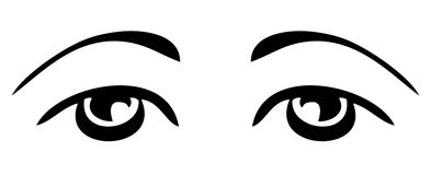 Vector simple sad eyes Royalty Free Stock Images