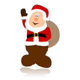 Vector simple santa claus Stock Photos