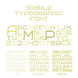 Vector simple serif alphabet three types of capital letters in flat style Stock Photos