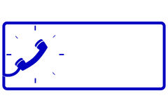 Vector simple Sign, Call Center Stock Photography