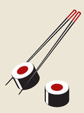 Vector simple sushi illustration Stock Photography