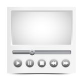 Vector simple video player interface Royalty Free Stock Images
