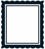 Vector simple vintage picture frame  Stock Photo