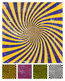 Vector simplistic background, color versions set, grunge texture. Vector simplistic background, color versions set, includes grunge aged texture Stock Image