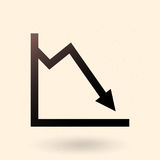 Vector Single Analitic Icon - Graph royalty free illustration