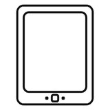 Vector Black Outline Icon - Tablet PC Royalty Free Stock Photography