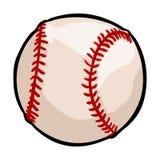 Vector Single Cartoon Baseball Ball Stock Photography