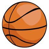 Vector Single Cartoon Basketball Ball Stock Photos