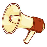 Vector Single Cartoon Illustration - Loudspeaker on Isolated White Background. Color Megaphone Icon vector illustration