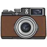 Vector Single Cartoon Photo Camera Stock Photography