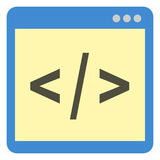 Vector Single Icon - Programming Source Code Royalty Free Stock Photography