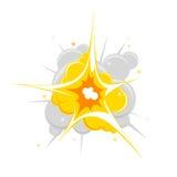 Vector single explosion. Stock Image