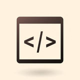 Vector Single Icon - Programming Source Code Stock Images