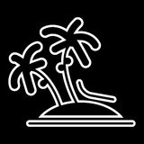 Vector single palm tree silhouette icon isolated Royalty Free Stock Image