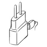 Vector Single Sketch Charger for Mobile Phones Royalty Free Stock Photos