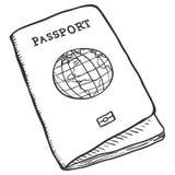 Vector Single Sketch Passport Stock Photo