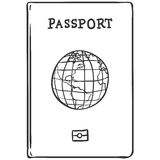 Vector Single Sketch Passport Royalty Free Stock Photos