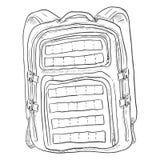 Vector Single Sketch Tactical Backpack. Stock Photos