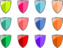 Vector - sistema de escudos Fotos de archivo libres de regalías