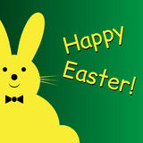 Vector sitting smiling yellow Easter bunny Royalty Free Stock Photo