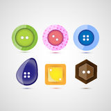 Vector six buttons Royalty Free Stock Photo