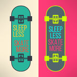 Vector skateboard background with cool slogan in Stock Images