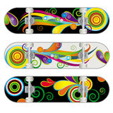 Vector Skateboard Designs Stock Images