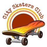 Vector skateboard emblem Royalty Free Stock Photo