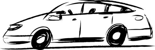 Auto. Vector sketch of abstract car stock illustration