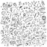 Vector Sketch background with baby stuff Stock Photography