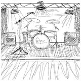 Vector Sketch background with music Royalty Free Stock Photography