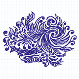 Vector Sketch Background With Pen Drawn Patterns Stock Image